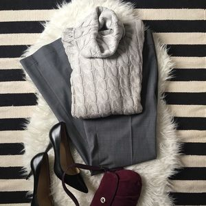 Banana Republic Cable-knit Sweater Cowl-neck EUC